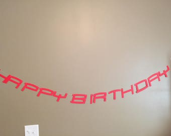 Spiderman Themed happy Birthday Banner-Free Shipping