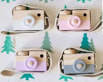 Wooden toy camera - photo prop