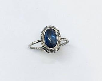 Kyanite & sterling silver ring
