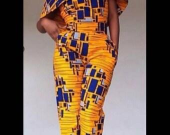 Linda African Ankara jumpsuit