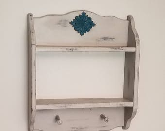 Antique Distressed Wood Wall Shelf