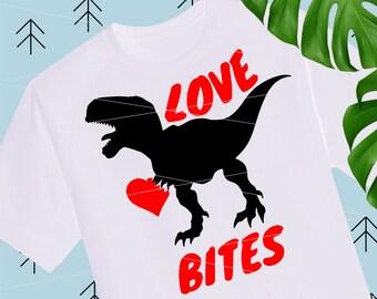 Love Bites svg Boy Valentines SVG Dinosaur svg Valentines Day quote Svg Valentine Shirts for Boys girls svg files for Cricut Silhouette lfvs