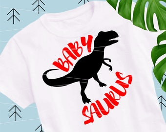 Babysaurus SVG Dinosaur svg Baby svg Dinosaur cut file Quote Svg files for Cricut Silhouette svg dxf png eps lfvs