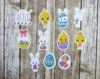 Easter Die Cuts, Planner Die Cut, Bunny Die Cut, Chick Die cut, Easter egg die cut, Animal Die Cuts, Character die cuts, planner stickers