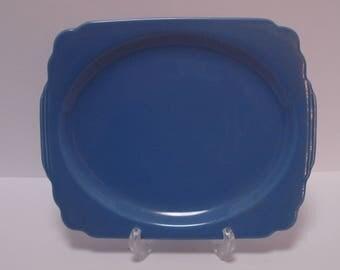 Homer Laughlin Riviera 11 Inch Platter, Mauve Blue, NO CHIPS!