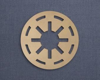 Galactic Republic Logo, Wood Cutout, Unfinished Sign