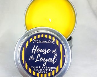 House of the Loyal- 4 oz. Candle- Wizard Inspired- Soy Vegan Candle