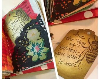 Playing card journal, junk journal, handmade journal