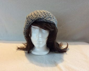 Hand Crocheted Highland Grey Slouch Cap