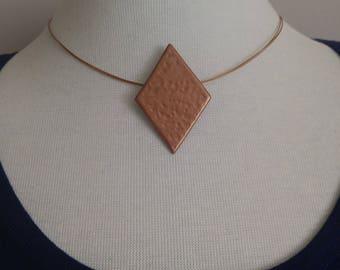 Bronze Geometric Pendant Necklace- Minimalistic Style