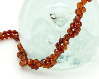 Natural Orange Quartz Round Faceted Ball Sphere Loose Gemstone Beads (2mm, 3mm, 4mm)