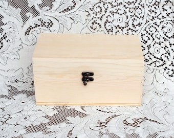 Real Wood Wedding -  Wood Wedding Gift Keepsake Jewelry Box