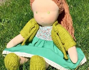 """Waldorf Doll Melisa, 14"""" OOAK doll"""