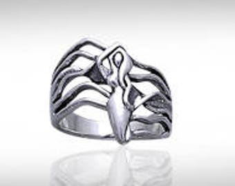 The Goddess of Passion Sterling Silver Ring