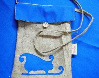 2 Christmas bags | Christmas gift | Christmas present | Jute satchels for Christmas