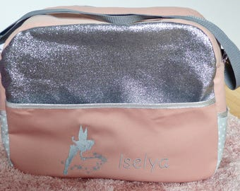 Beautiful diaper bag personalized with glitter for walks with baby...