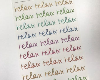 Relax Sticker Sheet