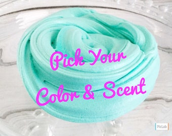 Slime, Butter Slime, 6oz, Scented Slime, Soft Serve, Pick Your Color and Scent, Borax Free