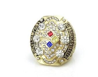 Custom Replica Pittsburgh Steelers 2008 Super Bowl Ring   ..Ben Roethlisberger  Ring