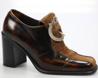 Vintage Maria Grazia Ripari hight heels loafers / pumps size. 38