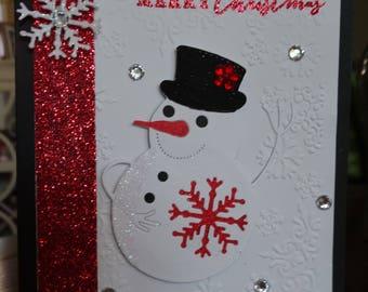 Waving snowman Christmas Card