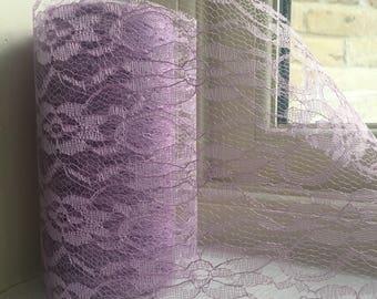 Lace ribbon roll, vintage lilac lace ribbon, wedding lace ribbon, venue decoration, chair sash ribbon, vintage ribbon roll, 10m lace ribbon