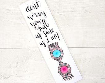 Harry Potter bookmark - Luna Lovegood quote bookmark - just as sane as I am - spectrespecs - book lover gift
