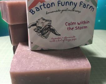 Chamomile & Lavender, Handmade Goat Milk Soap,  Handcrafted Soap