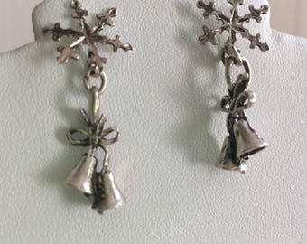 Sterling Silver Earrings Lovely old fashioned