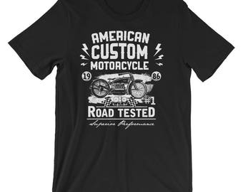 Classic Series: American Custom Motorcycle Road Tested Short-Sleeve Unisex T-Shirt