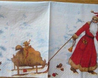 Santa Claus paper towel