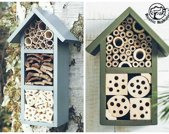 Rustic Urban Bee, Ladybird and Bug Hotel
