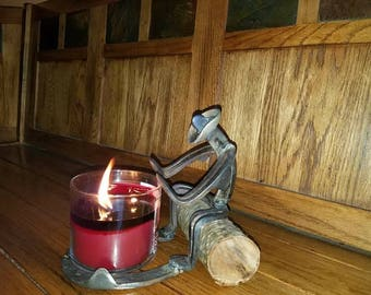 Cold cowboy candle holder