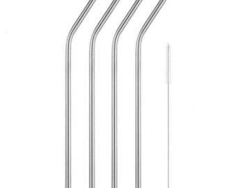 4 x bend reusable stainless 'bend' steel straws