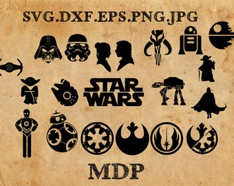 Sale! Star Wars SVG Collection - Star Wars DXF - Star Wars Eps - Star Wars Clipart - SVG Files for silhouette studio