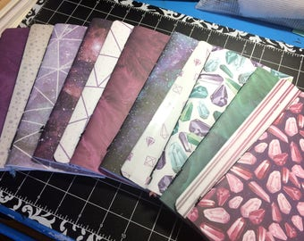 2x Travelers Notebook Midori Standard TN Inserts - Aurora - 2 Blank Notebooks + 1 Folder + 1 Elastic Expansion Band