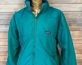 Vintage Patagonia Full Zip Fleece Lined Bomber Jacket (L)