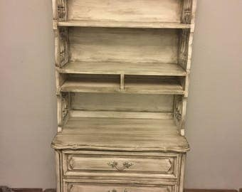 Shabby Chic Hutch, Antiqued Hutch, French Provincial Furniture, French Country Hutch, French Country Cottage, Painted Hutch