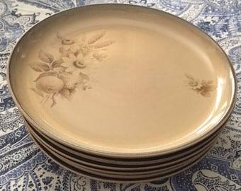 Set of 6 Vintage Denby Dinnerplates in Memories Pattern