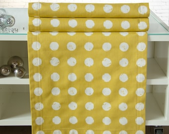 Saffron yellow table runners, 150 x 40 cm