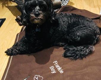 Personalised soft feece dog blankets