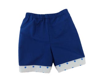 Baby girl or boy shorts / pants shorts was / blue stars cotton 3 months baby shorts