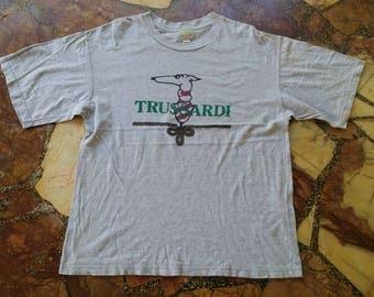 Vintage TRUSSARDI Design Logo shirt