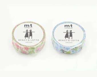 mt Washi Tape | mt x Bengr & Lotta - alma pink <MTBELO07> / alma blue <MTBELO08> | scrapbooking, Traveler's notebook, planner accessories