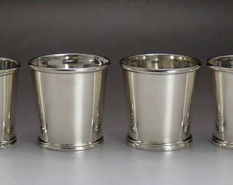 4 Vintage 1928 American Sterling Silver Whiskey Liquor Cups