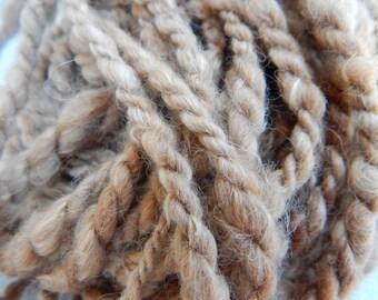 Handspun Yarn - Two-Ply - Natural Alpaca - 40 yards
