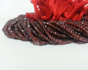 Lot of 5 Strands AAA Mozambique Garnet Faceted Rondelle Beads, AAA Red Garnet Beads, Red Garnet Faceted Beads, Garnet Beads Lot Wholesale