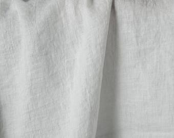 Stonewashed Off-White pre-washed 100% LINEN Fabric - European - SOFTENED - Flax textile