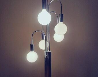 Mid Century Modern 5 Bulb Chrome Table Lamp
