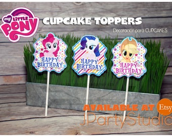 My little pony cupcake topper, set of 12